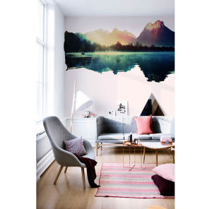 Plakposter, plaktextiel, mountains, bergen, kleurrijk, muur, sticker, interieur, interior, new, creative