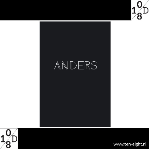 Anders, plakposter, teksten, illustraties, custom, fun, wall, stickers, muur, plaktextiel
